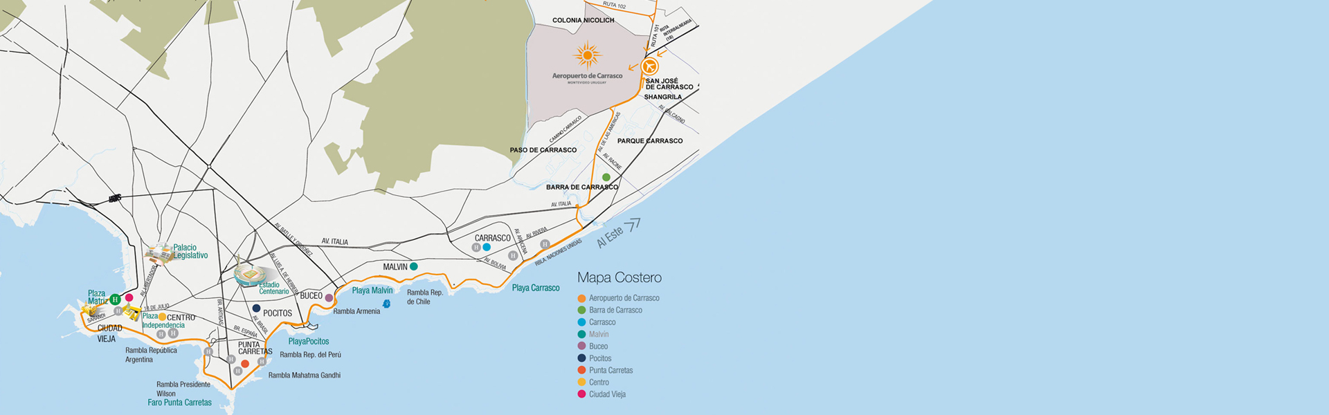 Location map aeropuerto de carrasco montevideo uruguay here are our airports plans with all the service pictograms and premises found in it gumiabroncs Image collections