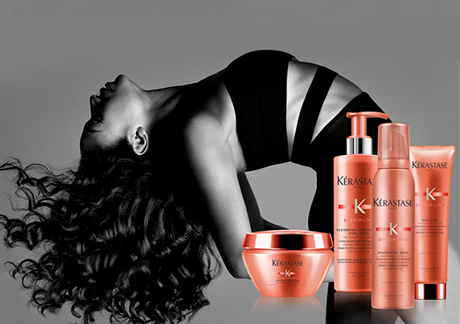 Kerastase wash, styling, texturizing and manicure
